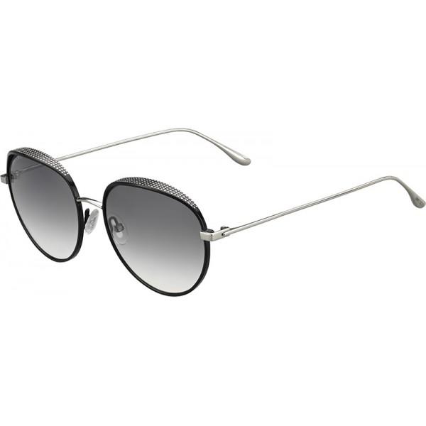 JIMMY CHOO Jimmy Choo Damen Sonnenbrille » RETO/S«, schwarz, JIN/IC - schwarz/ silber