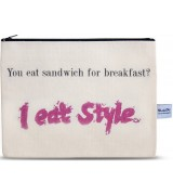 4LOU Vanity Bag Eat Style - 100% Canvas Swarovski...