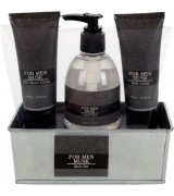Badeset For Men Moschus in Metallbox, Farbe grau/schwarz