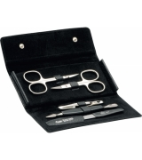 Erbe Collection fünfteiliges Manicure Set im braunen...