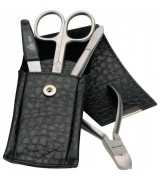 Erbe Collection vierteiliges Manicure Set im Lederetui...