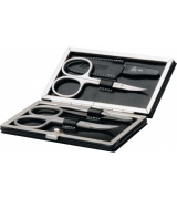 Erbe Collection vierteiliges Manicure Set im braunen...