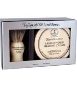 Taylor of Old Bond Street Sandalwood Gift Box Pure Badger