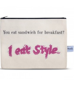 4LOU Vanity Bag Eat Style - 100% Canvas Swarovski Applikationen