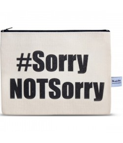4LOU Vanity Bag Not Sorry - 100% Canvas Swarovski Applikationen