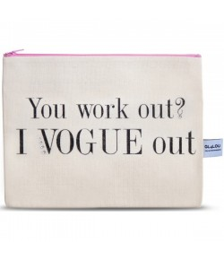 4LOU Vanity Bag Vogue out - 100% Canvas Swarovski Applikationen