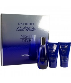 Aktion - Davidoff Cool Water Night Dive Geschenkset (EdT50/BL50/SG50)
