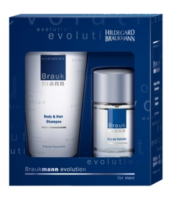 Aktion - Hildegard Braukmann Geschenkset evolution Body & Hair Shampoo + EdT