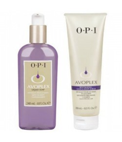 Aktion - OPI Avoplex Smoothie Duo liquid Soap 240 ml + Hand and Body Scrub 250 ml