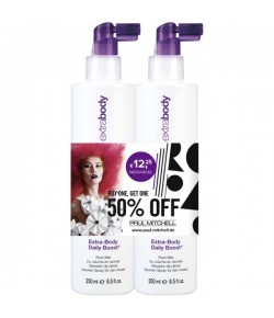 Aktion - Paul Mitchell Extra-Body Daily Boost 2 x 250 ml  - Buy One, Get One 50% Off