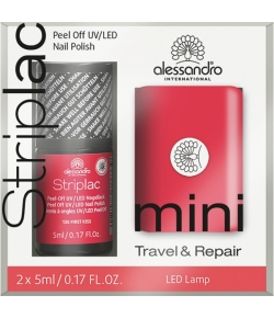 Alessandro Striplac Mini Kit First Kiss Striplac + Twin Coat + Mini LED Lampe