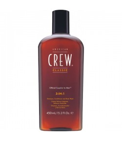 American Crew 3 in 1 Shampoo, Conditioner & Body Wash 450 ml