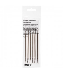 EVO Tools Mister Fantastic Hair Bungee Brown 6 Stück
