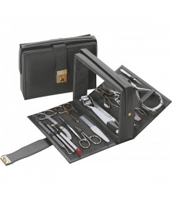 Erbe Collection Profi Manicure Set im Lederetui 15,5 x 11 cm