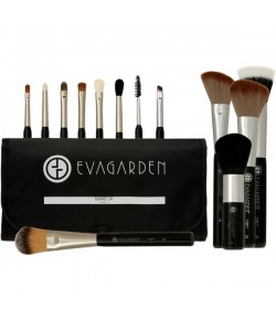 Eva Garden Make-Up-Pinsel-Set mit Tasche