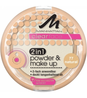 Manhattan Clearface 2in1 Powder & Make-up 77-Natural 11 g