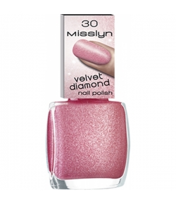 Misslyn Velvet Diamond Nail Polish Nagellack Pink Lollipop 30 10 ml