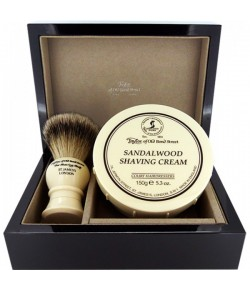 Taylor of Old Bond Street Sandalwood Super Lacquered Wooden Gift Box Best Badger 1