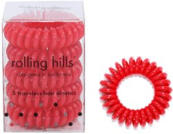 Rolling Hills Professional Hair Rings Red