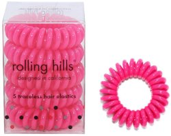 Rolling Hills Professional Hair Rings Rose Red