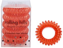 Rolling Hills Professional Hair Rings Transparent Rust Red