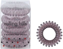 Rolling Hills Professional Hair Rings Transparent Brown